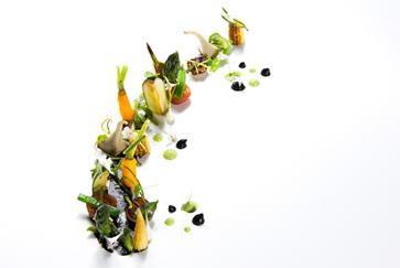 Ivan Cerdeño. Foto receta. Vegetales del mar y de la tierra