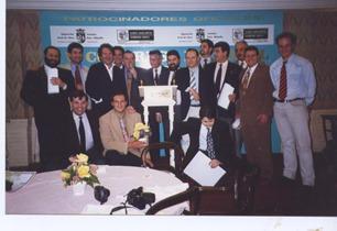 Manolo de la Osa, Pepe Rodriguez y Lorenzo Cañas en Vitoria 92